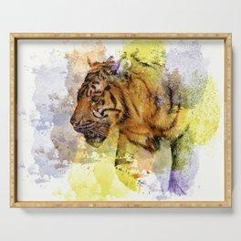 Digital Tiger Art Serving Tray