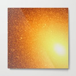 Copper Stars Ombre Metal Print