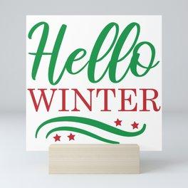 Hello Winter Mini Art Print