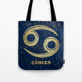 Cancer Zodiac Sign Tote Bag