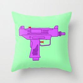 Toy Uzi Throw Pillow