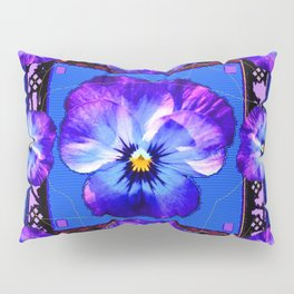Purple Pansy & Butterflies Melody Abstract Pillow Sham