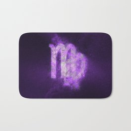 Virgo Zodiac Sign. Abstract night sky. Bath Mat