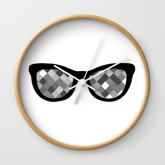 Diamond Eyes Black and White Wall Clock