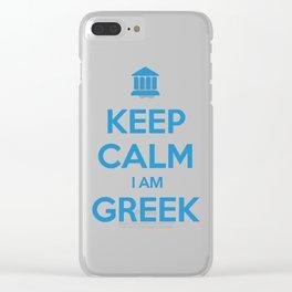 KEEP CALM I AM GREEK Clear iPhone Case