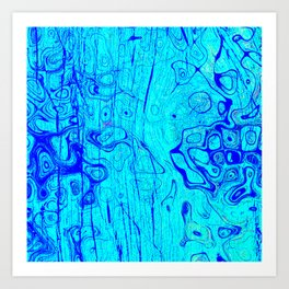 Abstract Oil on Water Art Print