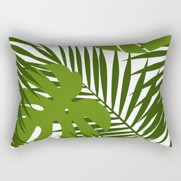 Palm leaf and monstera silhouettes seamless pattern Rectangular Pillow