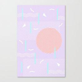 Memphis Summer Lavender Waves Canvas Print