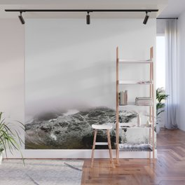 Winter comes to mountains Wall Mural