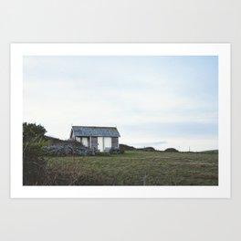 Tiny House, Barn, Summer House, Log Cabin, UK Art Print