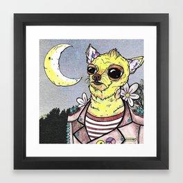 Astro Mutt Framed Art Print