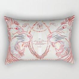 Royal Confrontation Rectangular Pillow