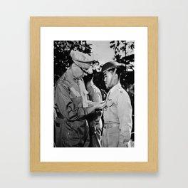 Douglas MacArthur Awarding DSC Medal - WWII Framed Art Print