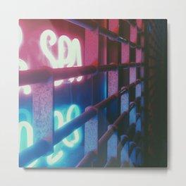 Neon Gate Metal Print
