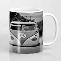 vw bus Mugs featuring VW bus portrait  by Aaron Joslin Photography