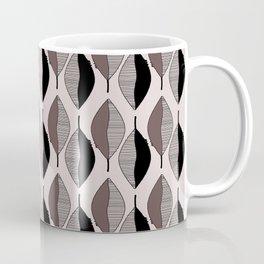 Mauve & black leaves Coffee Mug