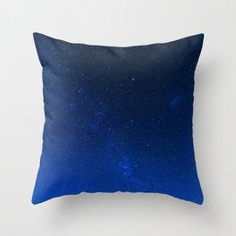 Blue Night Sky (Color) Throw Pillow