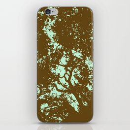 Mint and Brown Forest iPhone Skin