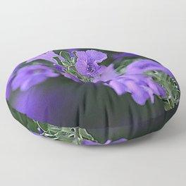 Purple Flowers In Garden Fine Art Photo Floor Pillow