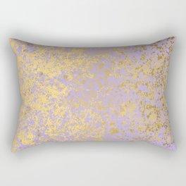 Lavender and Gold Patina Design Rectangular Pillow