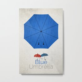 Blue Umbrella Metal Print