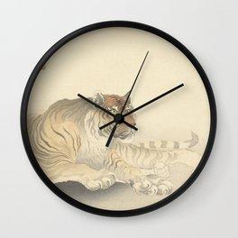 Tiger - Ohara Koson (1900 - 1930) Wall Clock