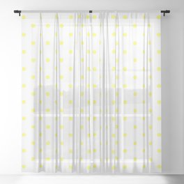 Dotted (Yellow & White Pattern) Sheer Curtain