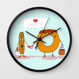 Odd couple Wall Clock