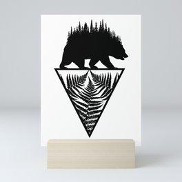 Fern and Bear Mini Art Print