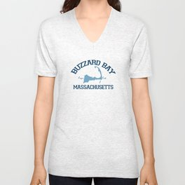 Buzzards Bay. Cape Cod Unisex V-Neck