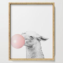bubblegum llama Serving Tray