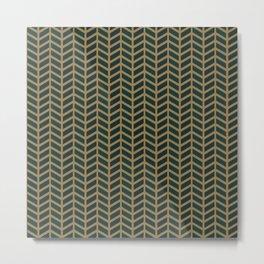 Green Velvet Golden Metal Print
