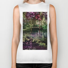 Tropical Pool Garden Biker Tank