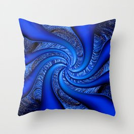 Twisted in Blue... Throw Pillow