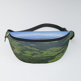 Green coastal landscape Fanny Pack