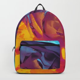 Surfing Europa. Dynamic Yellow, Orange and Blue Abstract. Backpack