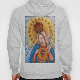 Immaculate Heart Of Virgin Mary Drawing Hoody