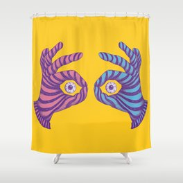 Thief Eyes Shower Curtain