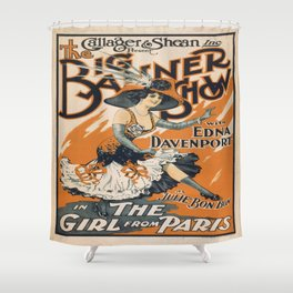 Vintage poster - The Girl from Paris Shower Curtain