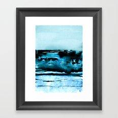 marine luminescence Framed Art Print