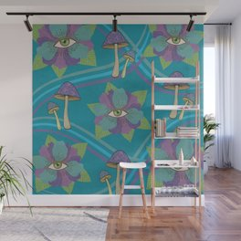 Psychedelic Pattern Wall Mural