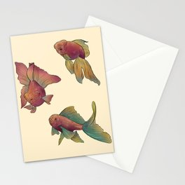 pastel goldfish // dancing floating fish Stationery Cards