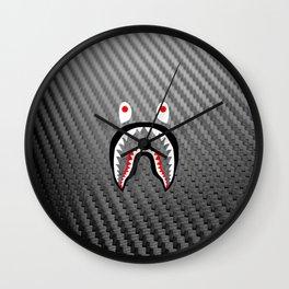 Frame carbon fiber bape shark Wall Clock