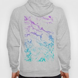 White marble purple blue turquoise ombre watercolor mermaid pattern Hoody