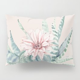 Aloe Cactus Rose Pink Pillow Sham