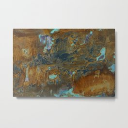 Blue Lagoons in Rusty World Metal Print