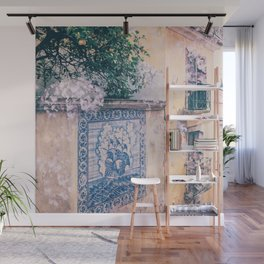 Lemon Trees and Tiles Wall Mural