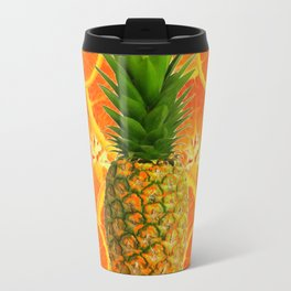MODERN ART HAWAIIAN PINEAPPLE & ORANGE SLICES FRUIT Travel Mug