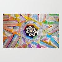 escher Area & Throw Rugs featuring Escher Star by Todd Huffine