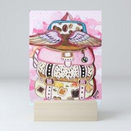 BAG TO SCHOOL Mini Art Print